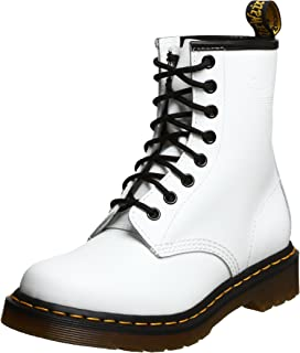 Dr. Marten's Women's 1460 8-Eye Patent Leather Boots, White Smooth Leather, 4 F(M) UK / 6 B(M) US Women / 5 D(M) US Men