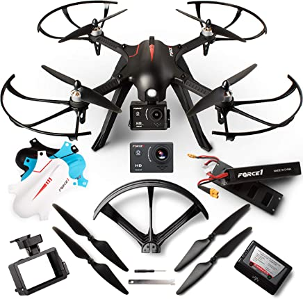 $159 Get Force1 Brushless Motor GoPro Drone Kit – F100GP Camera Drones for Adult w/Compatible GoPro Drone Mount, 1080p Drone Camera and Long Flight Time