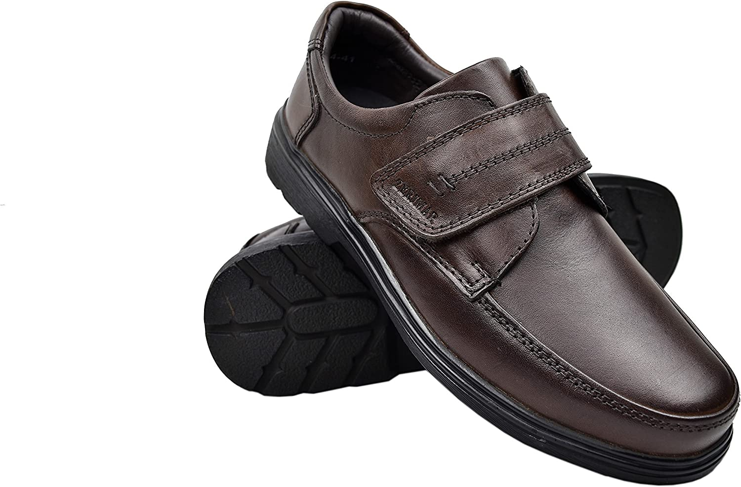 Zerimar Men's Leather shoes   Casual Men's shoes   Elegant shoes for Men   Leather shoes for Men Colour  Brown Size 12 UK - 45 EU
