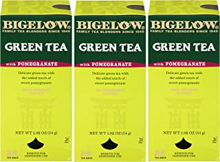 Bigelow Green Tea with Pomegranate 28-Count Box (Pack of 3) Premium Green Tea with Pomegranate Rosehips Hib...