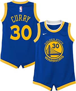 Nike Stephen Curry Golden State Warriors NBA Infants 12-24 Months Royal Blue Road Icon Edition Player Onesie Jersey
