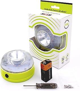 SOS Light señal V16 homologada con Doble función, luz de Advertencia para Coches con Linterna incluida, luz de avería, bal...
