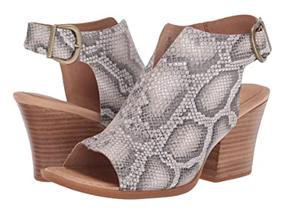 Born Moraine (White Snake Print) High Heels