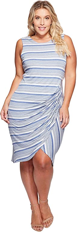 B Collection by Bobeau - Plus Size Side Gather Tank Dress