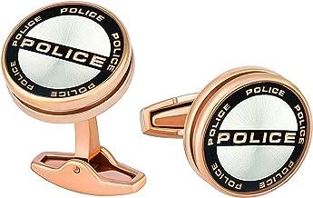 Police Men'S Stainless Steel Cufflinks - P Pj 90089Csrg/03 - Rose Gold/Black