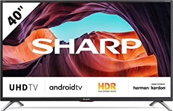 SHARP Android TV 40BL5EA, 101 cm (40 Zoll) Fernseher, 4K Ultra HD LED, Google Assistant,..