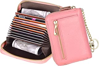 Yeeasy Women's Credit Card Wallet Genuine Leather RFID Blocking Card Holder Case