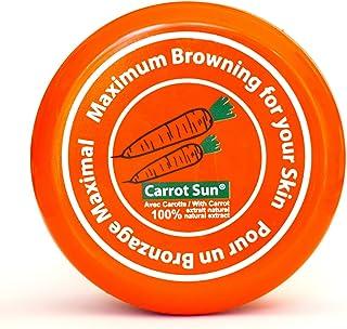 Carrot-Sun Bruiningsversneller bruiningscrème met wortelolie, L-tyrosine en henna voor een goudbruine en snelle bruining. ...