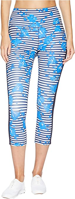 Kate Spade New York Athleisure Hibiscus Stripe Leggings