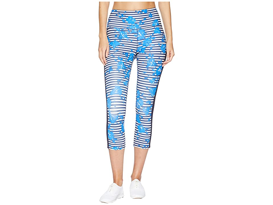Kate Spade New York Athleisure Hibiscus Stripe Leggings (Rich Navy) Women