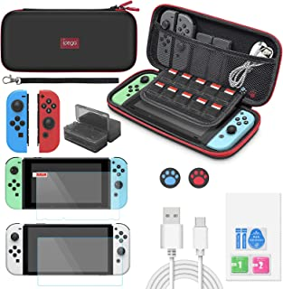 Accessories Bundle for Nintendo Switch & OLED Model 2021,MENEEA 13 in 1 Accessories kit with Carrying Case, Screen Protect...
