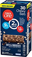 Fiber One Oats and Chocolate Chewy Bars New Recipe, 30 ct. (Individually Wrapped)