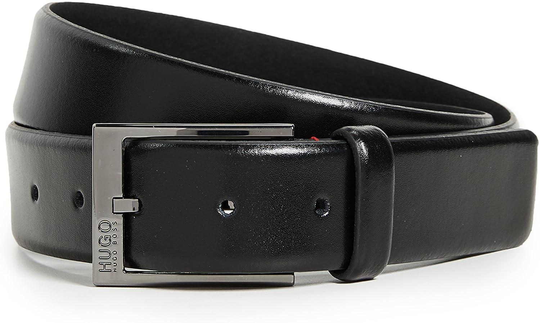 HUGO Men's Garney Smooth Leather Belt