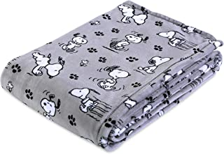 Berkshire Blanket Peanuts Snoopy Cute Character 55'' x 70'' Plush VelvetLoft Throw Blanket (Peanuts Poses and Paws)