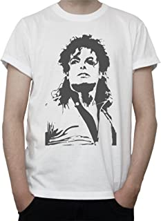 Michael Jackson Fan Art Black and White Graphics Mens T-Shirt