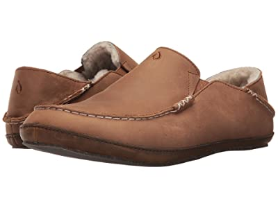 OluKai Moloa Slipper (Toffee/Dark Wood) Men
