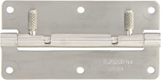 50mm Open Width Sugatsune HG-OTA75 Stainless Steel 304 Quick Release Hinge with Screw Holes Satin Finish 75mm Height 6mm Pin Diameter