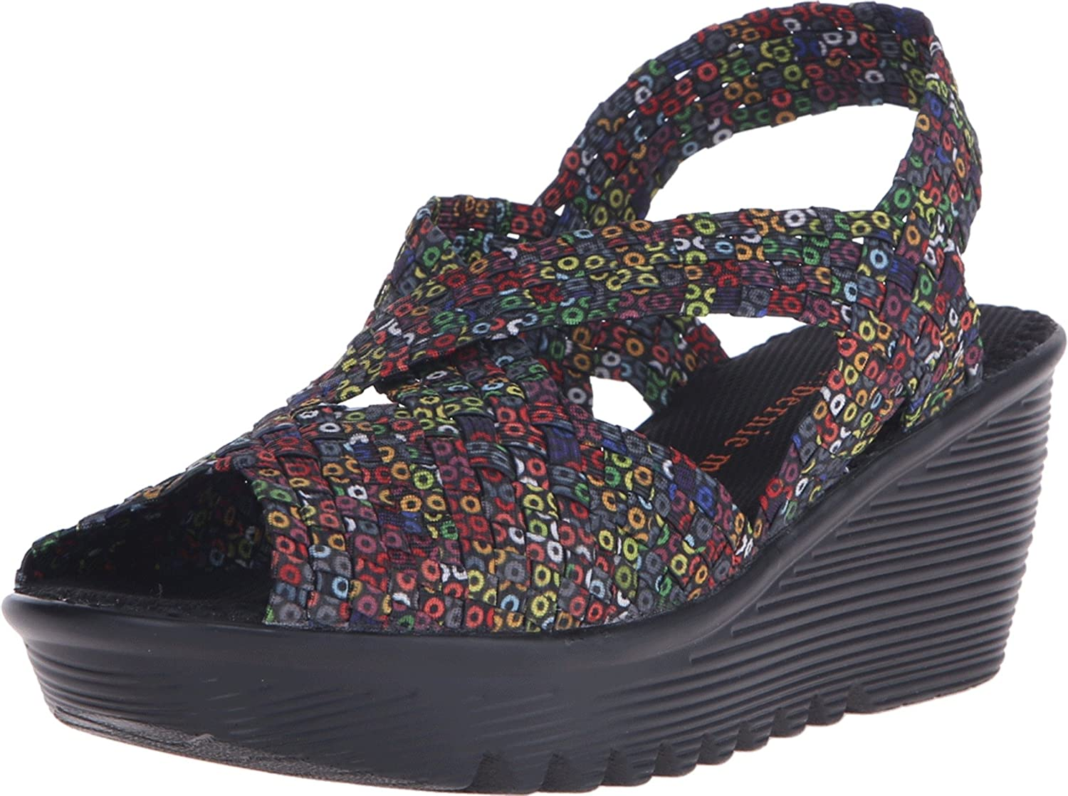 Bernie Mev Women's OFFicial Brighten Toe Sandals Shipping included Wedges Open