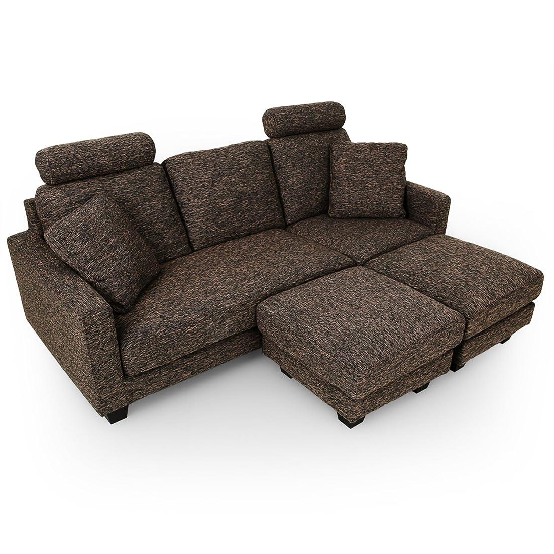 刃考案するラッカスLOWYA ソファ ソファセット リビングソファ カウチソファ sofa 3人掛け ブラウン