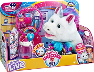 Little Live Pets 28863 Little Live Rainglow Unicorn Vet Set Electronic Plush
