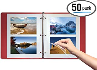 Better Office Products 50 Count Photo Mounting Sheets, 11 x 9 Inches, Double-Sided, 3-Hole Punched, Refill Photo Album Sheets, Replacement Photo Album Sheets, Box of 50