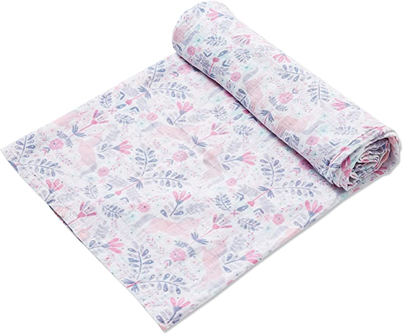 Angel Dear Luxurious Soft Swaddle Baby Blanket Unicorn Damask Large 47x47