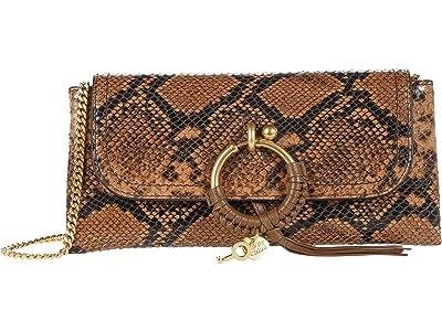 See by Chloe Joan Clutch (Coconut Brown) Handbags