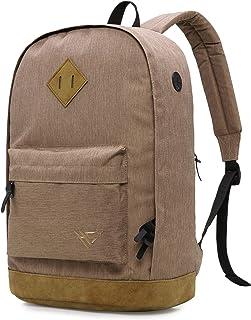 936Plus Wasserabweisender Rucksack Laptop Büchertasche für Schule, Hochschule, Uni, mit 12 Taschen, Khaki