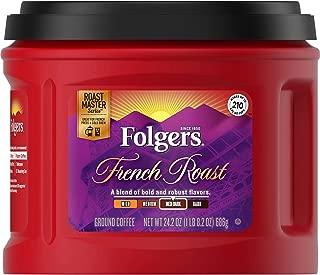 Folgers French Roast Ground Coffee, Medium-Dark Roast, 24.2 Ounce