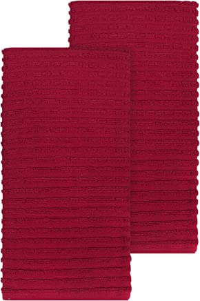 featured product Ritz Royale Collection 100% Combed Terry Cotton,  Highly Absorbent,  Oversized,  Kitchen Towel Set,  28 x 18,  2-Pack,  Solid Paprika Red