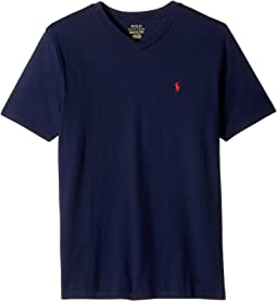 Cotton Jersey V-Neck T-Shirt (Big Kids)