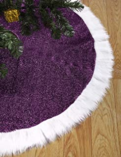 purple and silver tree skirt