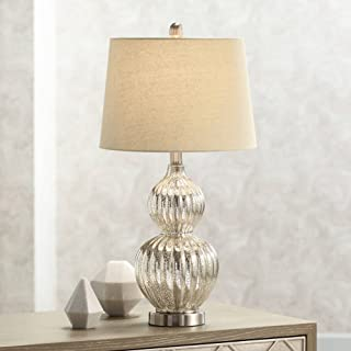 Best mercury glass table lamp burlap shade Reviews