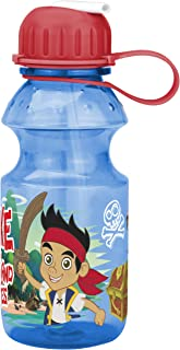 Zak! Designs Tritan Water Bottle with Flip-up Spout with Jake and The Neverland Pirates Graphics, Break-resistant and BPA-free plastic, 14 oz.