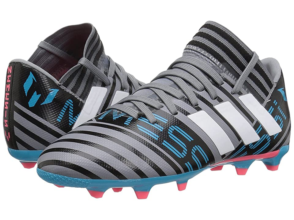 adidas Kids Nemeziz Messi 17.3 FG J Soccer (Little Kid/Big Kid) (Grey/White/Black) Kids Shoes