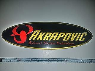 akrapovic heat resistant exhaust sticker