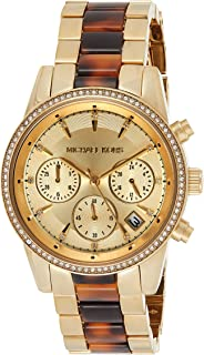 Michael Kors Womens Quartz Watch, Chronograph Display and Stainless Steel Strap MK6322
