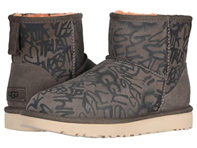 UGG Classic Street Graffiti Mini (Slate) Women