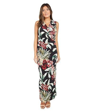 Tommy Bahama Oceanic Orchid Sleeveless Maxi Dress (Black) Women