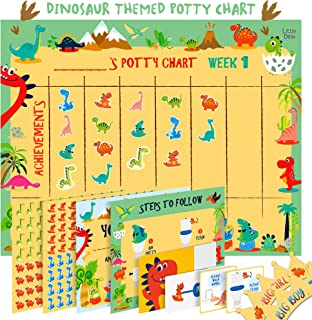 Potty Training Chart for Toddlers – Dinosaur Design – Sticker Chart, 4 Week..