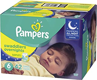 Diapers Size 6, 42 Count - Pampers Swaddlers Overnights Disposable Baby Diapers, Super Pack