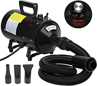 Voilamart 2800W Pet Grooming Hair Dryer Variable Speed Dog Hairdryer Blaster Fur Blower with 2 Gear Temperature and Flexib...