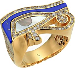 Gold/White Cubic Zirconia/Lapis/White Grey