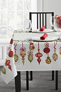 Benson Mills Christmas Village Fabric Printed Tablecloth (60