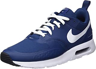 Mens Air Max Vision Fabric Low Top Lace Up, Navy/Black-White, Size 11.5