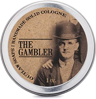 The Gambler Bourbon-inspired Solid Cologne - The warm smell of whiskey and tobacco, finished.