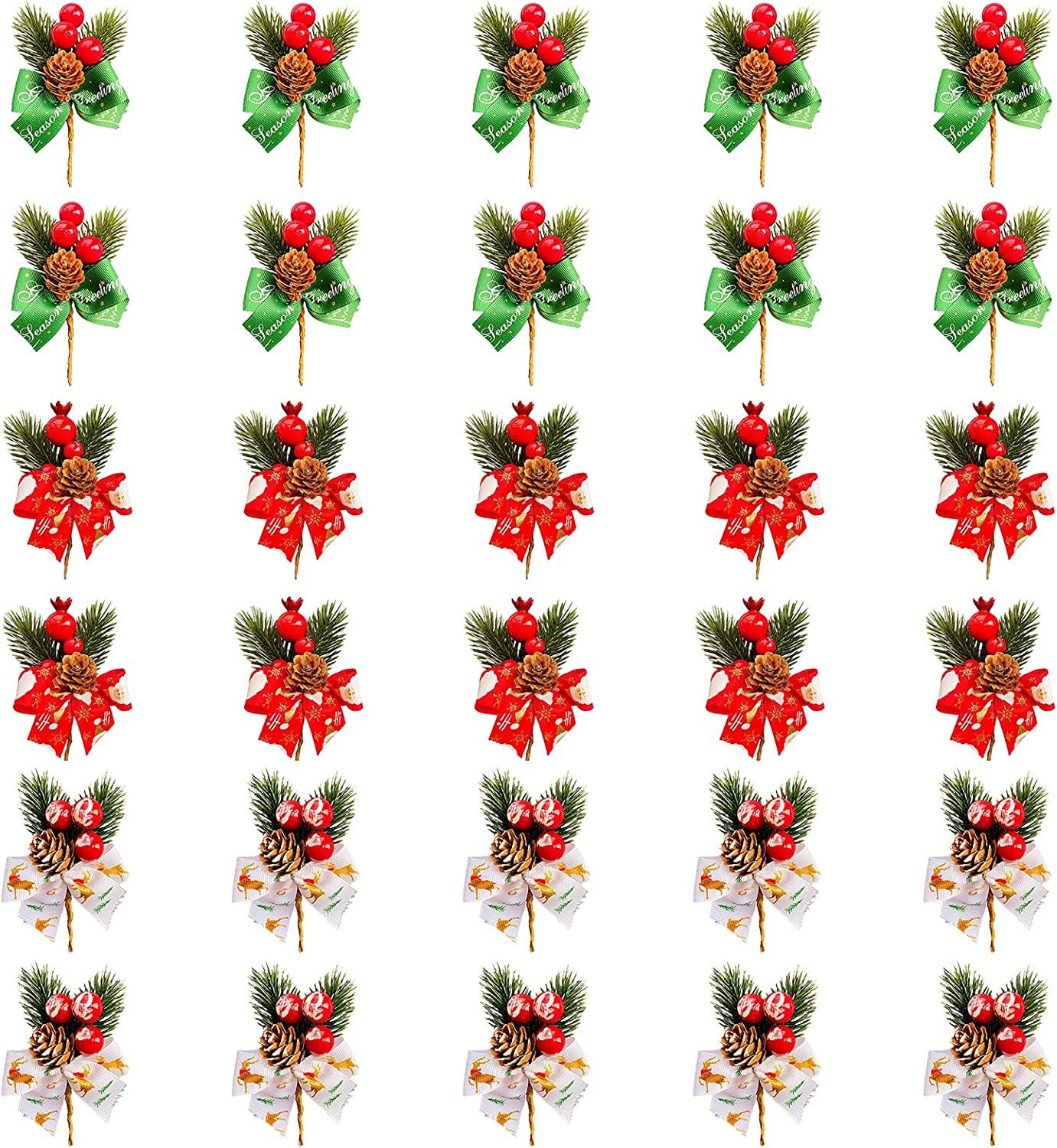 Plcnn Free Sale SALE% OFF shipping on posting reviews 30Pcs Christmas Red Berries Picks Artificial Ber Pine