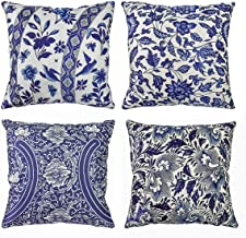 Blue and White Porcelain Throw Pillow Cover Cushion Covers Traditional Chinese Calligraphy Culture Pillowcases Decorative ...