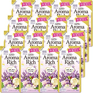 【ケース販売】ソフラン アロマリッチ 柔軟剤 ラベンダーの香り 詰め替え 430ml×16個