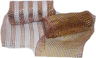 Country Silk 10 Yards Rose Gold Metallic Mesh Ribbon, 6